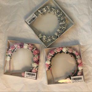 Bundle 3 Flower Crown Hair Headband